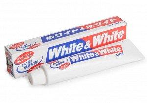 """Lion"""" """"White & white"""" зубная паста с двойным отбеливающим эффектом 150 г. (в коробке)"""