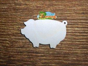 Свинка Свинка, (продается в палетках), размеры 12*8 см, материал: фанера 4 мм.   Заготовка продается в палетках. Для сохранности при транспортировке детали на палетках не прорезаны до конца. Не выламы