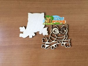 Сова Сова, (продается в палетках), размер 8*7 см, материал фанера 3 мм.   Заготовка выполнена из влагостойкой фанеры толщиной 3 мм. Обрабатывать поверхность перед декорированием рекомендуется шкуркой