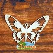 Бабочка Бабочка, (продается в палетках), размер 12*8 см, материал фанера 3 мм.   Это изделие может быть использовано как новогоднее украшение на елку.  Заготовка выполнена из влагостойкой фанеры толщи