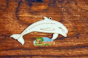 Дельфин Дельфин, (продается в палетках), размер 14*6,5 см, материал фанера 3 мм.   Это изделие может быть использовано как новогоднее украшение на елку.  Заготовка выполнена из влагостойкой фанеры тол