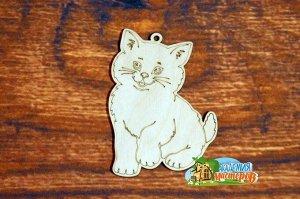 Кошка Кошка, (продается в палетках), размер 11*8 см, материал фанера 3 мм.   Это изделие может быть использовано как новогоднее украшение на елку.  Заготовка выполнена из влагостойкой фанеры толщиной
