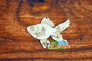 Рыбка Рыбка, (продается в палетках), размер 10*8 см, материал фанера 3 мм.   Это изделие может быть использовано как новогоднее украшение на елку.  Заготовка выполнена из влагостойкой фанеры толщиной