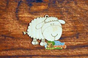 Овечка Овечка, (продается в палетках), размер 10*8 см, материал фанера 3 мм.   Это изделие может быть использовано как новогоднее украшение на елку.  Заготовка выполнена из влагостойкой фанеры толщино
