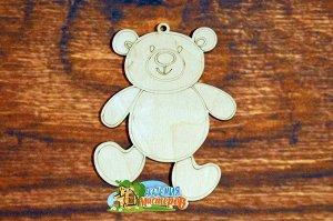 Мишка Мишка, (продается в палетках), размер 12*9 см, материал фанера 3 мм.   Это изделие может быть использовано как новогоднее украшение на елку.  Заготовка выполнена из влагостойкой фанеры толщиной