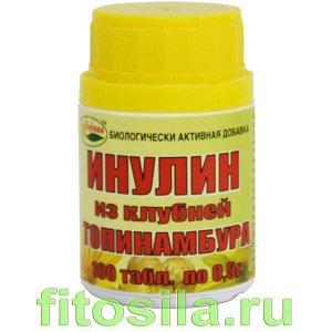 Инулин - БАД, № 100 табл. х 0,5 г (из клубней топинамбура)