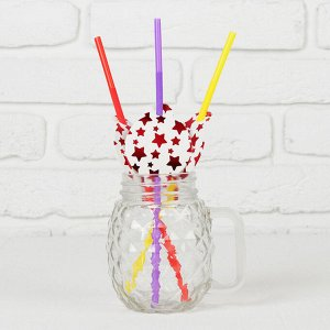 Трубочки для коктейля «Звёзды», пластиковые, набор 6 шт.