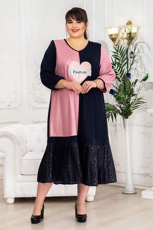 Платье Сьюзен розовый (62-72)