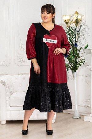 Платье Сьюзен красный (62-72)