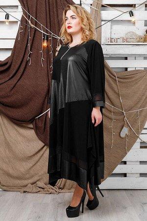 Платье Хельга черный (62-72)