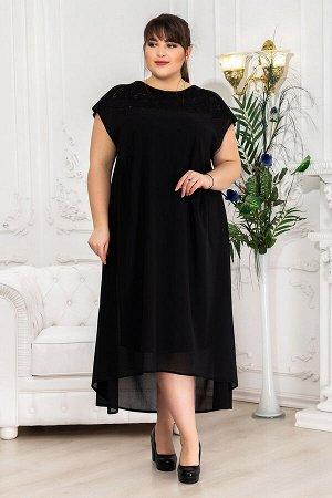 Платье-двойка Амбер черное (60-70)