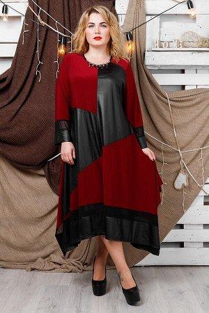 Платье Хельга бордо (62-72)
