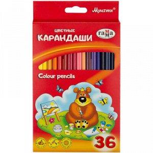 Карандаши цветные, Мультики, 36 цветов 050918_10