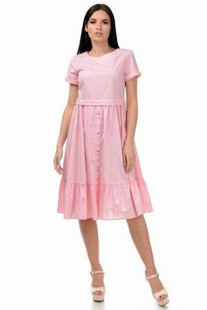 Платье «Анфиса», р-ры S-ХL, арт.405 розовый