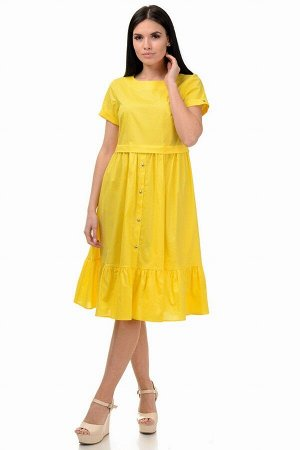 Платье «Анфиса», р-ры S-ХL, арт.405 желтый