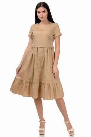 Платье «Анфиса», р-ры S-ХL, арт.405 беж