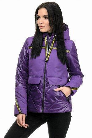 Демисезонная куртка «Матиса», 42-48, арт.277 фиолет