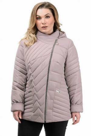Куртка демисезонная «Зарина», 50-56, арт.280 пудра
