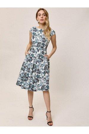 Платье арт. V1.9.03.15-52060 голубой,белый