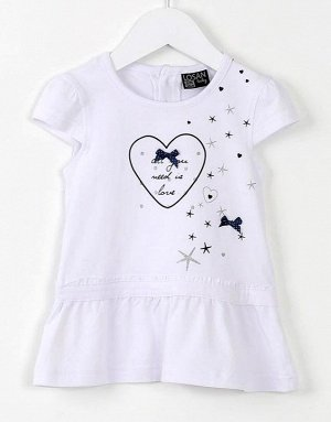 Платье Мягкое трикотажное платьице для малышки. 95% хлопок, 5 % эластан.