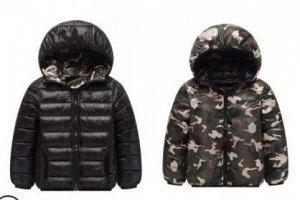 Куртка Материал: нейлон Наполнитель: хлопок  длина по спинке 52 см, рукав 50 см, бюст 43*2 см
