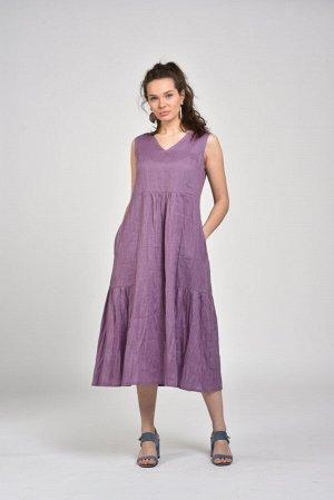 Платье  сарафан лён р 48
