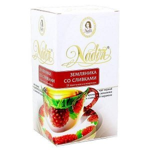 Чай NADIN 'Земляника со сливками' 25 пакетиков