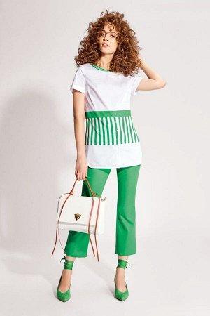 Блуза Блуза NOCHE MIO 6.951  Состав: Хлопок-95%; Нейлон-5%; Сезон: Лето Рост: 164  Оригинальная блузка из эластичного хлопкового полотна, составит замечательный летний комплект с брючками 4.936.