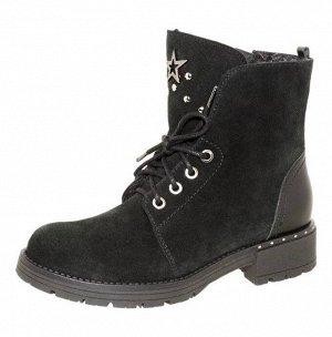 5-1553 черный (38-40) 4 Ботинки зимние Лель