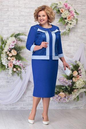 Платье Ninele 5784 василек+голубой