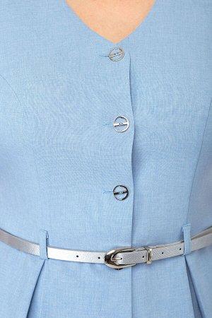 Костюм Костюм ANELLI 690 голубой жакет  Сезон: Весна-Лето  Идеальное сочетание элегантности и строгости! Гармония внешнего и внутреннего!Комплект, состоящий из жакета и юбки. Выполнен из ткани с комп