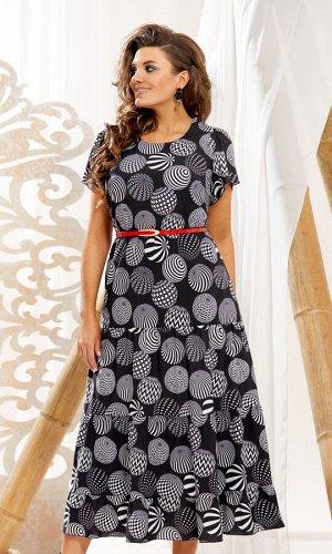 Платье Платье Vittoria Queen 10993  Состав ткани: ПЭ-95%; Спандекс-5%;  Рост: 164 см.  Суперское платье на каждый день! Сидит идеально – свободный силуэт выкроен таким образом, что фигура смотр