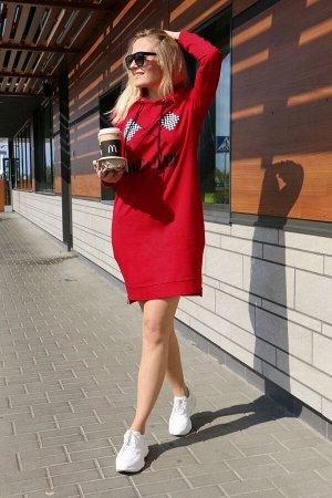 Платье Платье Azzara 660  Состав: Спандекс-5%; Хлопок-95%; Сезон: Весна-Лето Рост: 170  Платье женское трикотажное, спортивного стиля с капюшоном, полуприлегающего силуэта, длиной до колена, рукав вт