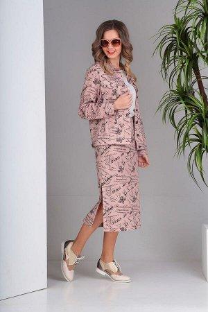 Куртка, юбка SandyNa Артикул: 13708 розовый