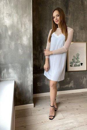 Накидка, платье PUR PUR 600 св.голубой