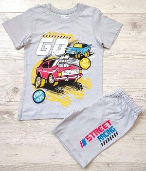 Костюм для мальчика (футболка+шорты) УЗБЕКИСТАН (6-7-8-9)