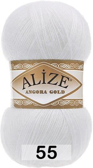 Пряжа для вязания Alize Angora Gold Ализе Ангора Голд  цвет №55