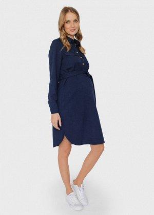 """Платье-рубашка на пуговицах с поясом для беременных и кормления """"Дэйна"""""""