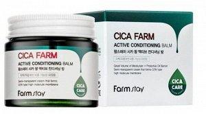 Farm Stay Cica Farm Active Conditioning Balm Восстанавливающий крем-бальзам для лица с центеллой азиатской, 80 мл