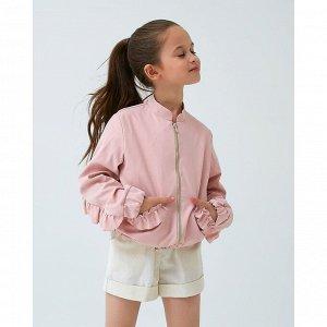 Жакет для девочки MINAKU: cotton collection, цвет розовый, рост 146 см