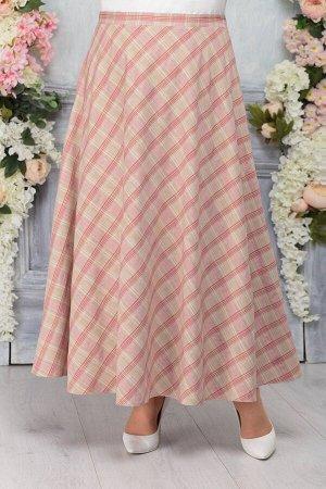 Юбка Юбка Ninele 2241 клетка  Сезон: Весна Рост: 164  Длинная женская юбка в клетку сделает образ женственным и нарядным. Она покроена по косому, расширяется к низу, застегивается на молнию и пуговиц