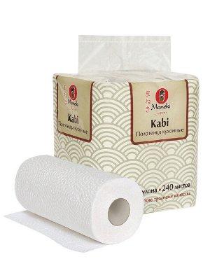 """Полотенца кухонные бумажные """"Maneki"""" Kabi 2 слоя, 60 л., белые, 4 рулона/упаковка"""