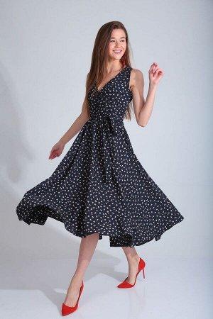 Платье Платье YOUR SIZE 2037  Состав ткани: ПЭ-100%;  Платье женское , отрезное по линии талии. Лиф платья с имитацией застежки на навесные пуговицы. Юбка – «Солнце». Длина платья п