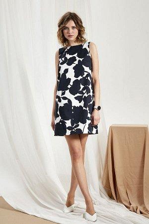 Платье Платье Divina 1.280  Состав ткани: Хлопок-100%;  Рост: 164 см.  Лаконичное платье в стиле минимализм из хлопкового джинса премиального качества. Простой крой и цветочный рисунок подчеркнут ваш