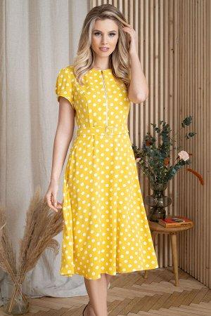 Платье Платье ЮРС 20-355/1  Состав ткани: Вискоза-60%; ПЭ-35%; Спандекс-5%;  Рост: 164 см.  В летние жаркие дни легкое красивое платье особенно актуально. В нем дышится легко и комфортно, а принт в г