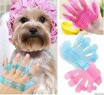 Перчатка для чесания собак и кошей