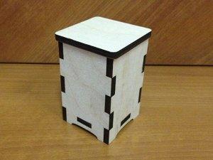 Коробочка Коробочка, (продается в разобранном виде в палетках), не комплектуется фурнитурой, размер 18*16*6 см, внутренний размер 7*7*/105 см, материал: фанера 6 мм, пр-во: Россия  Очень маленькая и с