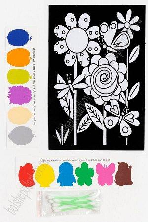 Раскраска бархатная с красками 15,3*22,8 см (SF-5671) №7