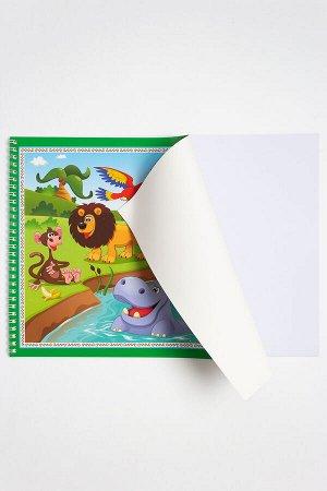 Альбом для рисования на гребне 35*25 см (24 листа) SF-5569, №1