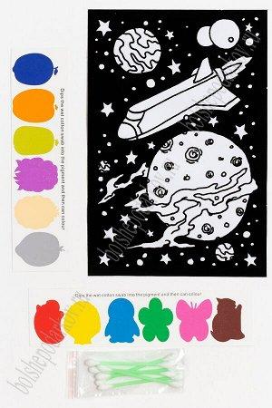 Раскраска бархатная с красками 15,3*22,8 см (SF-5671) №8